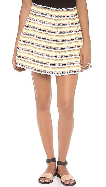 endless rose Neon Stripe Miniskirt