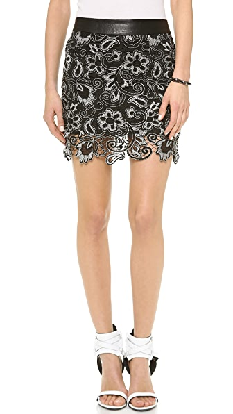 endless rose Textured Miniskirt