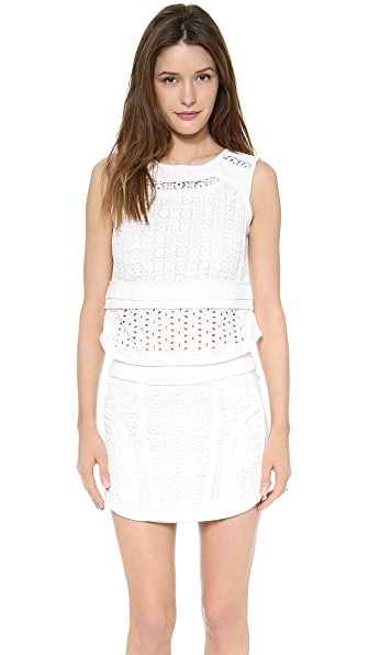 endless rose Sleeveless Textured Shell Top