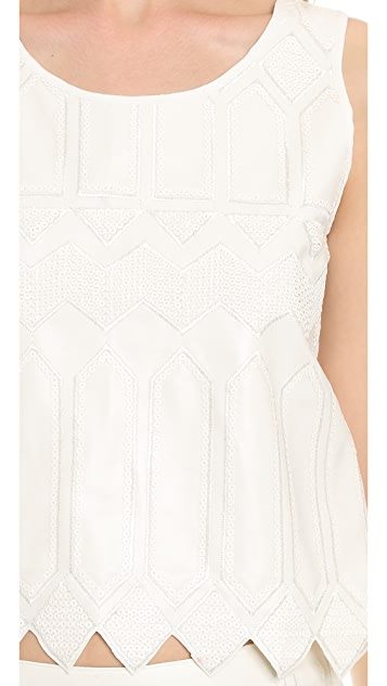 endless rose Zigzag Cropped Shell