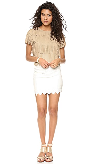 endless rose Fringe Top