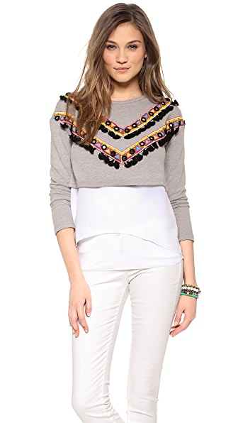 endless rose Detailed Sweatshirt Top