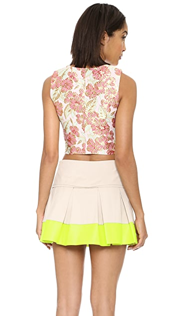 endless rose Embroidered Crop Top