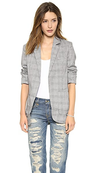 endless rose Detailed Collar Houndstooth Blazer
