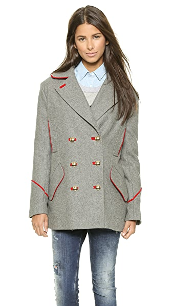 endless rose Piped Pea Coat