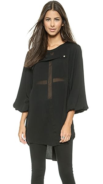 endless rose Cross Tunic Blouse