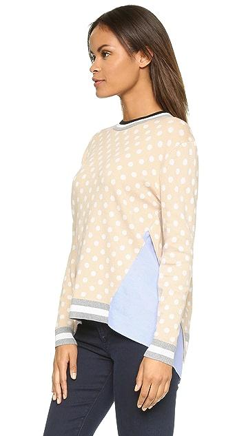 endless rose Polka Dot Combo Sweater
