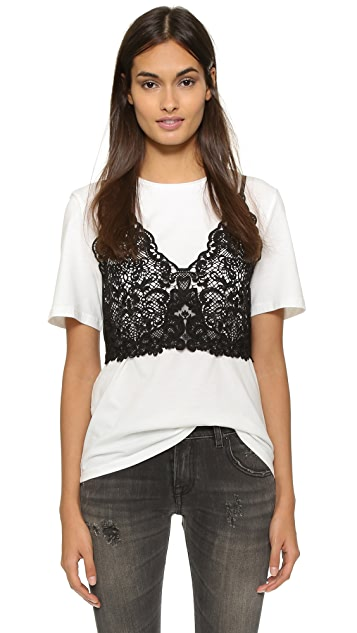 endless rose Lace Bralette Tee