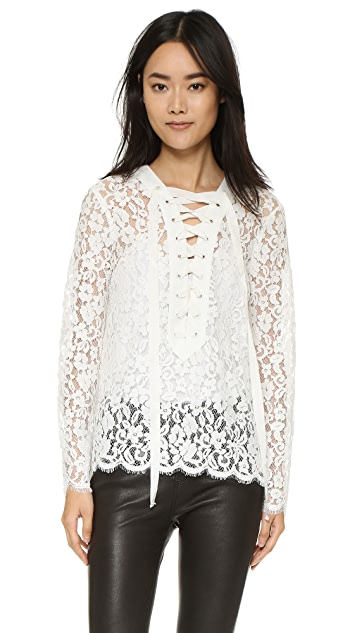 endless rose Lace Up Blouse