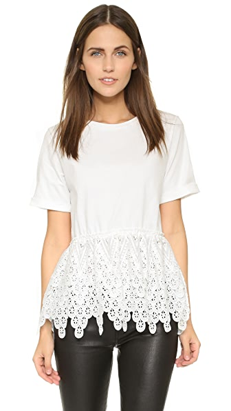 endless rose Lace Tee - White