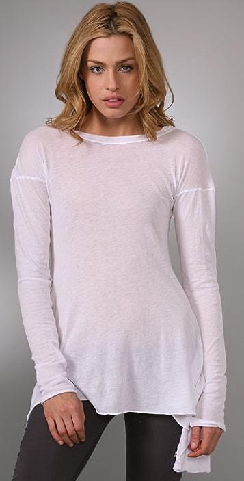 Enza Costa Symmetrical Long Sleeve Top