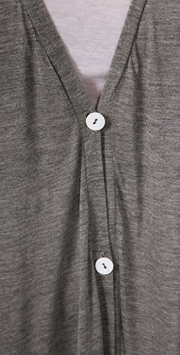 Enza Costa Oversized Button Cardigan