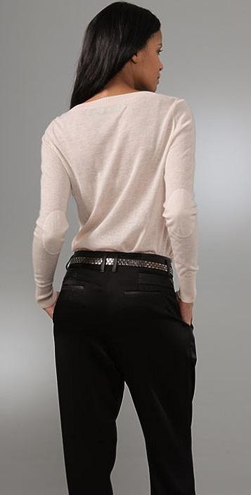 Enza Costa Cashmere Scoop Neck Sweater