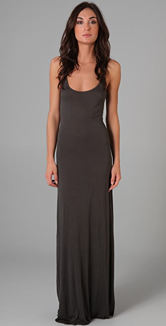 Enza Costa Scoop Tank Long Dress