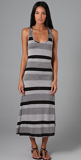 Enza Costa Striped Long Dress