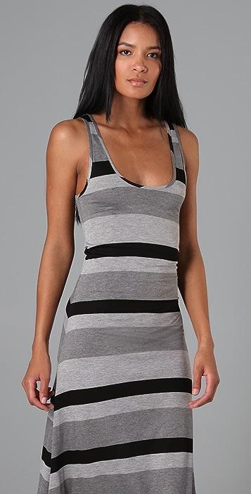 Enza Costa Striped Long Dress