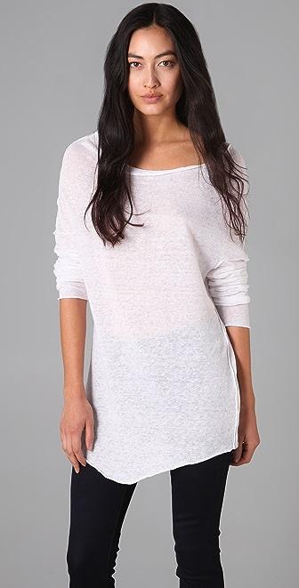 Enza Costa Linen Cowl Sweater