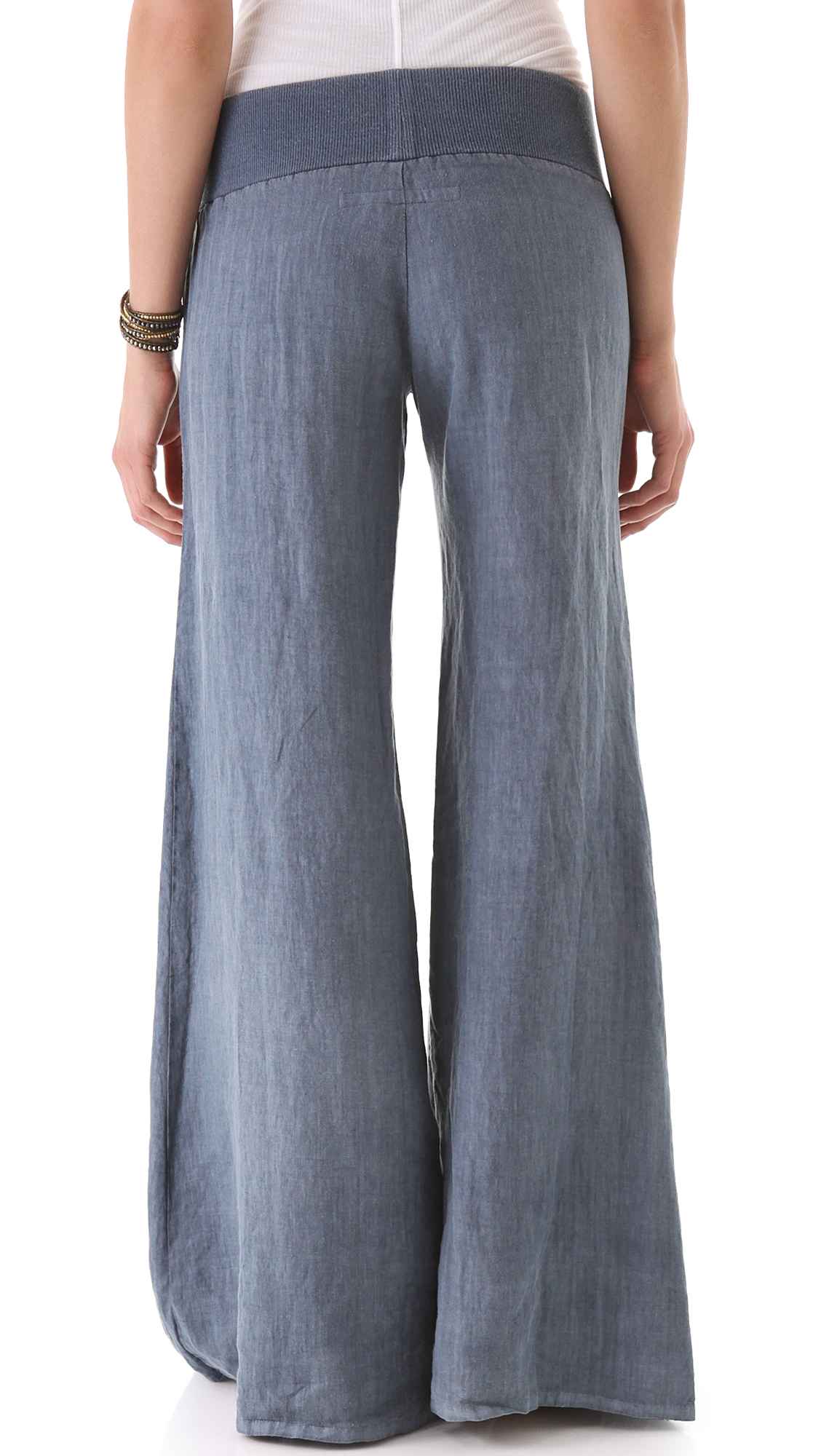 Enza Costa Linen Wide Leg Pants | SHOPBOP