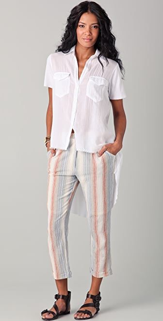 Enza Costa Gauze Button Shirt
