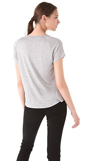 Enza Costa Short Sleeve Crew Neck Tee