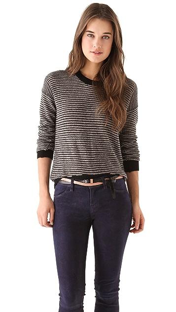 Enza Costa Cashmere Stripe Sweater