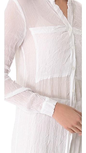 Enza Costa Chiffon French Pleat Dress