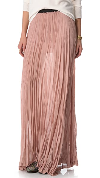 Enza Costa Chiffon Pleated Maxi Skirt | 15% off first app purchase ...