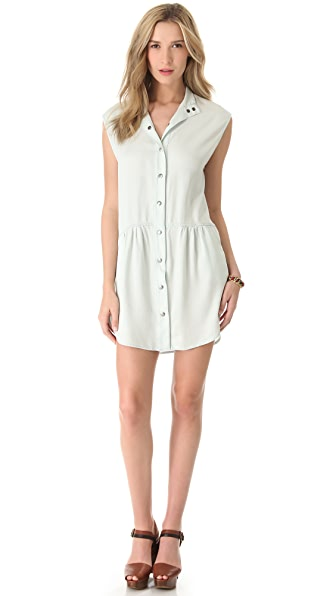 Enza Costa Sleeveless Shirtdress