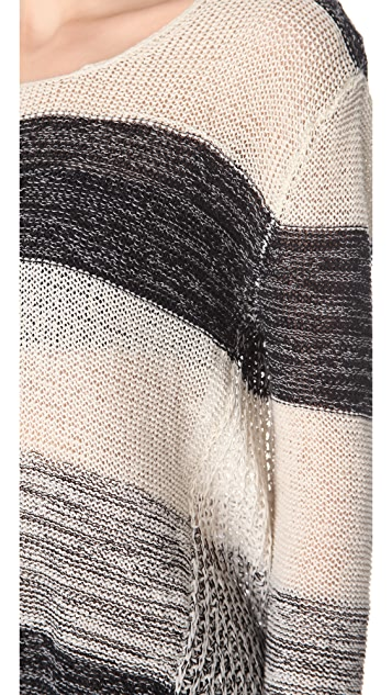Enza Costa Loose Stripe Sweater