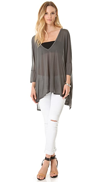 Enza Costa Oversized V Neck Tee