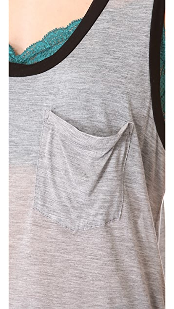 Enza Costa Two Tone Racer Tank