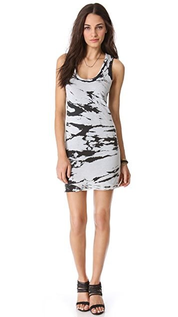 Enza Costa Doubled Racer Mini Dress