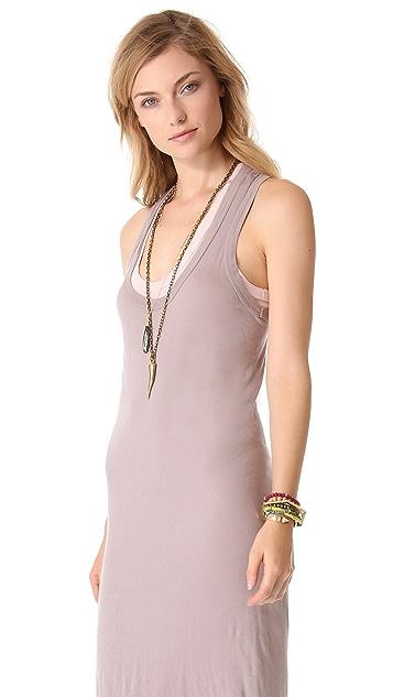 Enza Costa Doubled Racer Dress