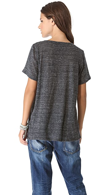 Enza Costa V Neck Tee