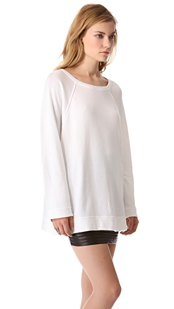 Enza Costa Long Sleeve Raglan Sweatshirt