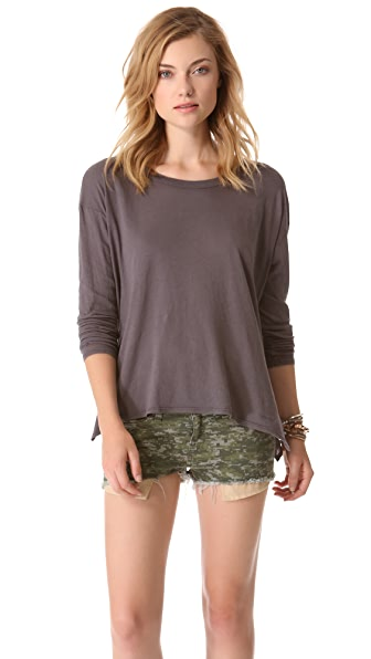 Enza Costa Drop Shoulder Tee