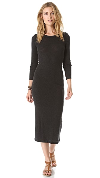 Enza Costa Soft Cuffed Sleeve Dress