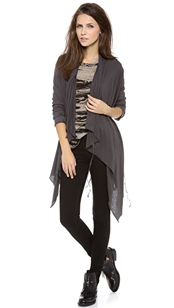 Enza Costa Long Sleeve Wrap Cardigan