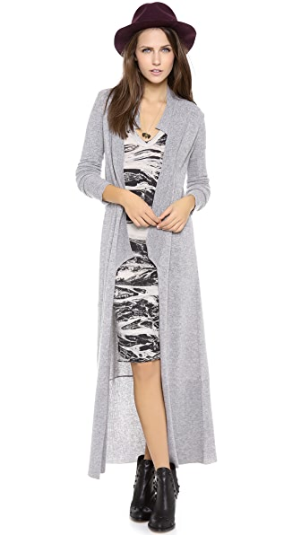 Enza Costa Open Long Cardigan