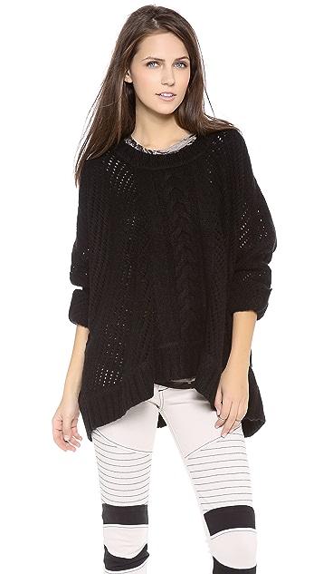 Enza Costa Oversized Crew Neck Sweater
