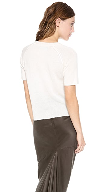 Enza Costa Short Sleeve Cashmere Sweater