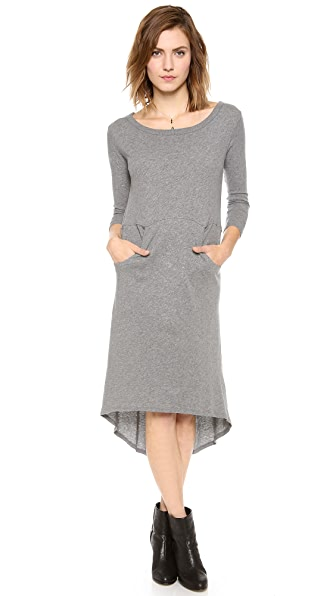 Enza Costa Cashmere High Low Dress