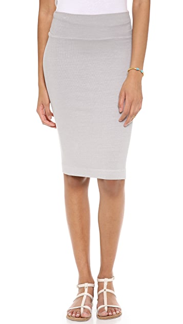 Enza Costa Ribbed Pencil Skirt