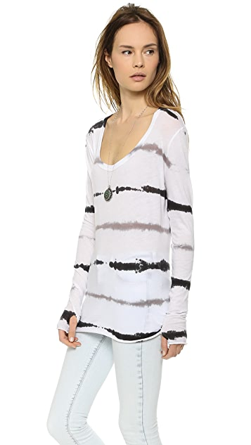 Enza Costa Long Sleeve Scoop Tee