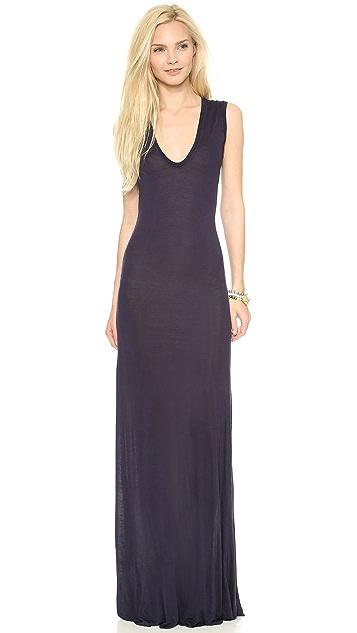Enza Costa Sleeveless U Maxi Dress