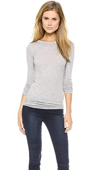 Enza Costa Long Sleeve Crew Tissue Tee