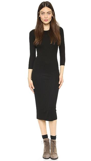 Enza Costa Ribbed Dress