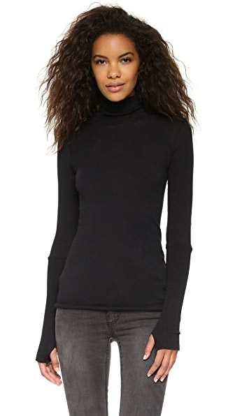 Enza Costa Cuffed Turtleneck