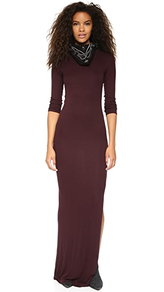 Enza Costa Ribbed Maxi Dress