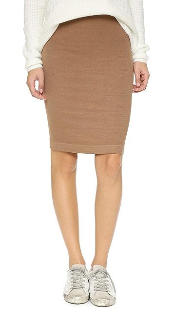 Enza Costa Ribbed Pencil Skirt